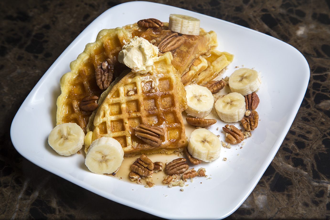 Butter Pecan Waffle image